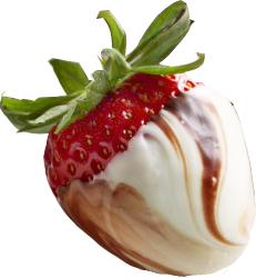 Strawberry with white and dark chocolate